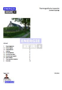 Bekijk een voorbeeld van een thermografierapport van Energiekeurplus