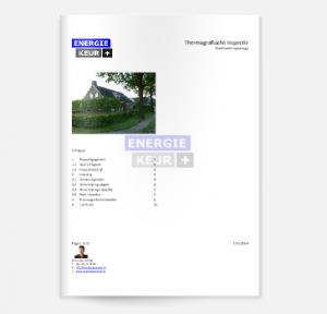 Bekijk een voorbeeld thermografie rapport van Energiekeurplus