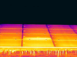 Warmtebeelden van zonnepanelen
